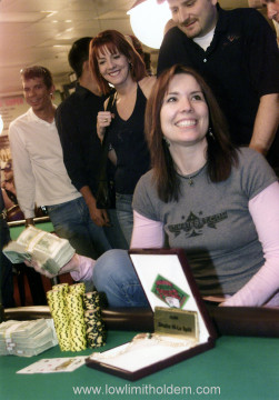 Annie Duke Smiling with Money