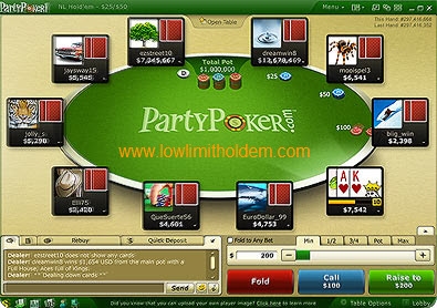 Party Poker Holdem Table
